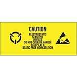 Tape Logic Electrostatic Sensitive Devices Shipping Label, 1 x 2 1/2, 500/Roll