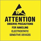 Tape Logic Attention - Observe Precautions Tape Logic Shipping Label, 4 x 4, 500/Roll