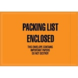 4.5 x6 Orange Packing List Enclosed Envl.
