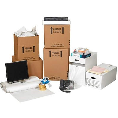 12(L) x 12(W) x Adjustable(H) Shipping Boxes, 32 ECT, Brown, 1 /Bundle(MKIT1)