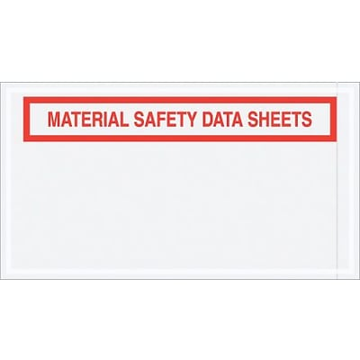 Envelope; 5 1/2 x 10 - Panel Face, Material Safety Data Sheets, 1000/Case