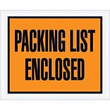 Staples Packing List Envelope, 4 1/2 x 5 1/2 - Orange Full Face, Packing List Enclosed, 1000/Cas