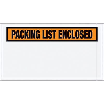 Orange Panel Face, Packing List Enclosed, 5-1/2x10, 1000/Case