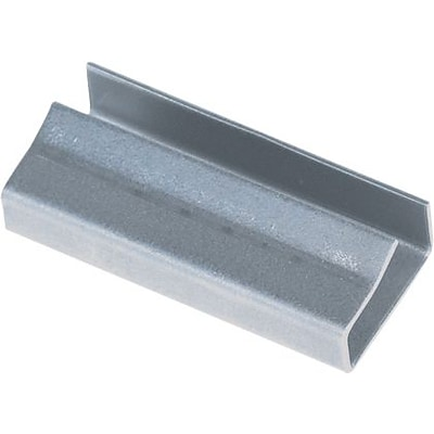1/2 - Staples Open/Snap On Metal Poly Strapping Seals, 2500/Case