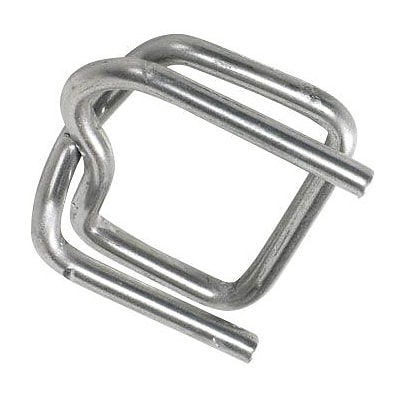 1/2 - Staples Heavy-Duty Wire Poly Strapping Buckles, 1000/Case