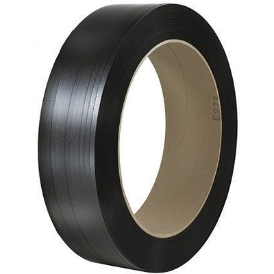 7/16 x 10500 - 16 x 6 Core-Staples Hand Grade Signode Comparable Polypropylene Strapping -Smooth, 1 Coil