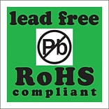 2x2 Lead Free RoHs Compliant Shipping Label