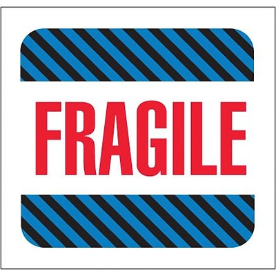 Tape Logic® Labels, Fragile, 4 x 4, Multiple, 500/Roll