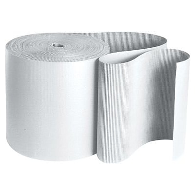 White Singleface Corrugated Roll, 36 x 250, 1 Roll (SF36W)
