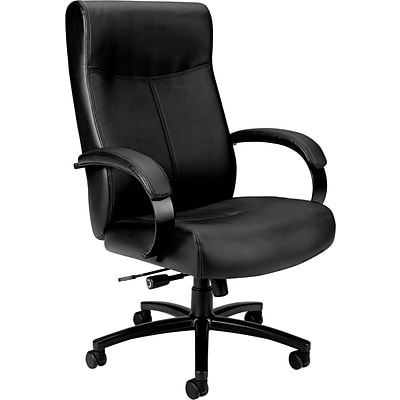basyx by HON VL685 Series Big & Tall Leather Chair, Black, Seat: 21W x 20D, Back: 21W x 28 1/2H NEXT2017 NEXT2Day