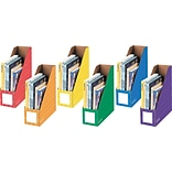 Bankers Box® Magazine File Holders, 13H x 4 1/4W x 12 1/4, Assorted Colors, 6/Pk