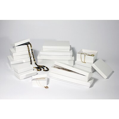 Boxit White Krome Jewel Box, 5 1/4 x 3 3/4 x 7/8