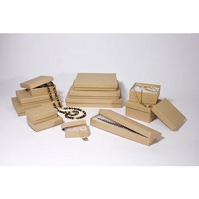 Boxit Brown Kraft Jewel Box, 3 1/2 x 3 1/2 x 2
