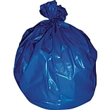 Heritage 30-33 Gallon Trash Bags, 33x40, High Density, 19 Mic, Blue, 250 CT (Z6640EX)