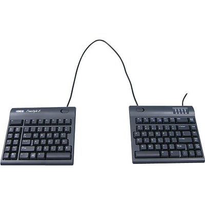 Kinesis Freestyle2 for PC Wired Keyboard, 20 Separation, Black (KB800PB-US-20)