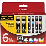 Canon®  PGI-225/CLI-226 Ink Tank Value Pack, Multi-pack (6 cart per pack), Black and Color (4530B012