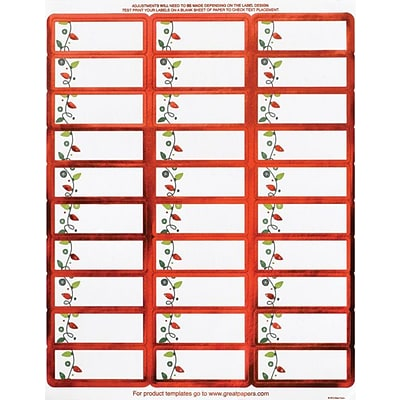 Great Papers® Holiday Card Address Labels String Of Lights Foil, 120/Count