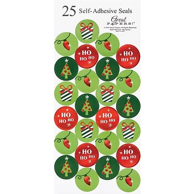 Great Papers® Holiday Seals Foil String Of Light, 50/Count