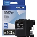 Brother LC 103 Black Ink Cartridge, High Yield