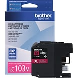 Brother LC 103 Magenta Ink Cartridge, High Yield (LC103M)