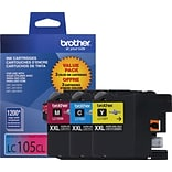 Brother® LC105CL Tri-Color Super High-Yield Ink Cartridges, Multi-pack (3 cart per pack)