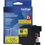 Brother LC105 Yellow Ink Cartridge (LC105Y); Super High Yield