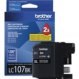 Brother LC107 Black Ink Cartridge (LC107BKS); Super High Yield