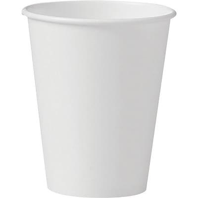 Solo® Handled Paper Hot Cups, 8 Oz., White, 1,000/Ct