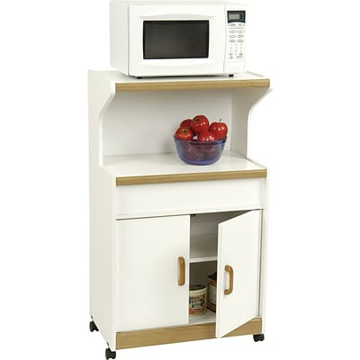 Ameriwood® Microwave Workcenter, White/Oak