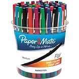 Paper Mate® Flair Point Guard Pens; Assorted, 48/Pk Canister