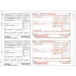 TOPS® W-2 Tax Form, 8 Part 2 Wide, White, 14 7/8 x 5 1/2, 100 Forms/Pack