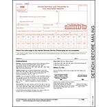 TOPS® 1096 Tax Form, 1 Part, White, 8 1/2 x 11, 50 Sheets/Pack