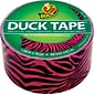 "Duck® Brand Fun Duct Tape, Pink/Black Zebra, 1.88"" x 10 Yards"