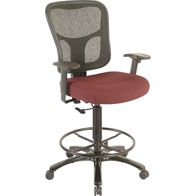 Tempur-Pedic® TP8200 Ergonomic Fabric Mid-Back Drafting Stool, Burgundy