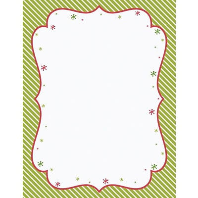 Great Papers® Holiday Stationery Peppermint Twist , 80/Count