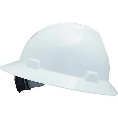 MSA Safety® V-Gard® Hard Hats, Non-Slotted, Polyethylene, Standard, White