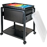 Advantus® Folding Mobile File Cart, Clear/Black, Letter/Legal (5758)