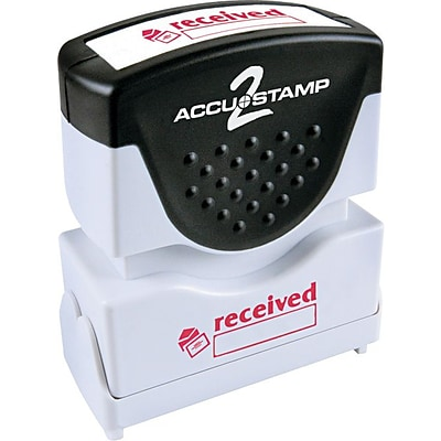Accustamp2 Pre-Inked Shutter Stamp with Microban®, Red, Each (035570)