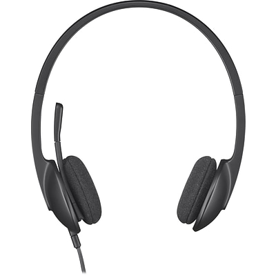 Logitech H340 USB Wired PC Headset for Internet Calls and Music (981-000507)