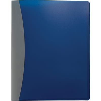 Executive Report Cover, Letter, 50 Page Capacity, Business Card Holder, Two Diagonally Cut Pockets, Blue