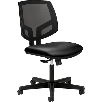 HON® Volt® Mesh Back Office Chairs,  Black SofThread™ Leather