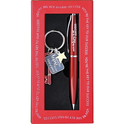 Baudville® Key to Success Pen and Key Chain Gift Set