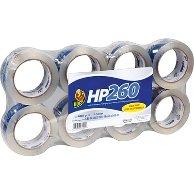 Duck® HP260 High-Performance Packaging Tape, 8/Pack