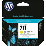 HP 711 (CZ136A) Yellow Inkjet Cartridges Multi-pack (3 cart per pack)