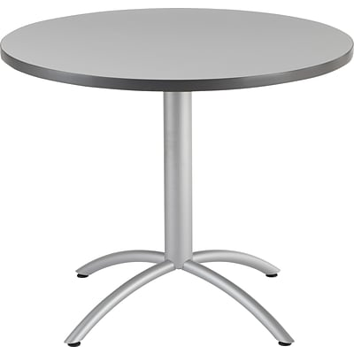 Iceberg® CafeWorks Cafe Table, 36 Round, Gray