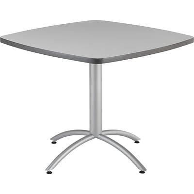 Iceberg® CafeWorks Cafe Table, 36 Square, Gray
