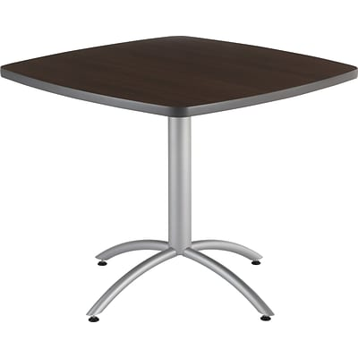 Iceberg® CafeWorks Cafe Table, 36 Square, Walnut