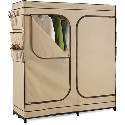 Honey Can Do 60 Double Door Storage Closet, Tan