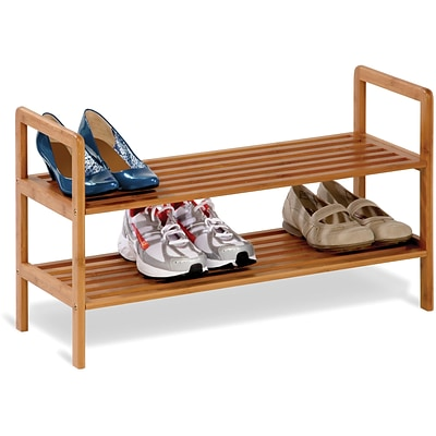 Honey Can Do 2-Tier Bamboo Shoe Shelf