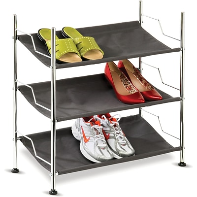 Honey Can Do 3 Tier Canvas Shoe Rack